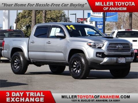 Certified Pre-Owned 2017 Toyota Tacoma TRD Sport* BRAND NEW FUEL ALLOYS AND ALL TERRAINS Four Wheel Drive Pickup Truck - In-Stock